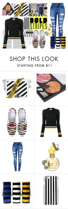 """""""Bold Stripes"""" by sparklemeetsclassic ❤ liked on Polyvore featuring Off-White, BP., 3.1 Phillip Lim, WithChic, Marc Jacobs, MICHAEL Michael Kors, stripes, contestentry, polyvoreoutfit and BoldStripes"""
