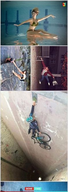 10 Uncanny Angle Photos That Will Mess With Your Brain Funny Animal Pictures, Funny Photos, Funny Animals, Cool Pictures, Cool Photos, Illusion Photos, Photo Portrait, Photocollage, Optical Illusions
