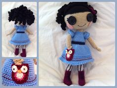 Amigurumi Lalaloopsy type doll with owl pocket :)