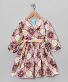 Take a look at this Plum & White Circle Hallie Dress - Toddler & Girls by Blue Juniper on #zulily today!