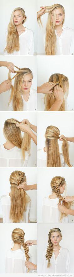 Tutorial peinado sencilla, trenza deshecha de lado