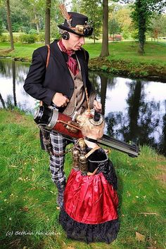 """STEAMPUNK— Parenting oleandersfromspace: """"  That's capital, dad, you are doin' it right. Lovely outfits and props. """""""