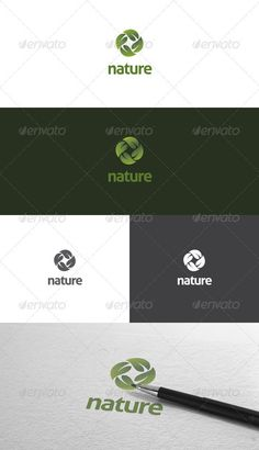 Nature Logo Template  #GraphicRiver         Nature is logo template for business or company related to natural, fresh, green, etc. The item consist of AI Illustrator and Vector EPS format that fully editable and also resizable.   Font used : Aller (free)     Created: 21August12 GraphicsFilesIncluded: VectorEPS #AIIllustrator Layered: Yes