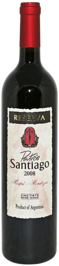 """Patrón Santiago Reserva"" 85% Malbec / 10% Cabernet Sauvignon / 5% Bonarda - Bodega Finca El Zorzal, Maipú, Mendoza-------------Terroir: Russel (Maipú) & Valle de Uco----------------------Crianza: 60% del vino durante 18 meses en barricas de roble francés y americano"
