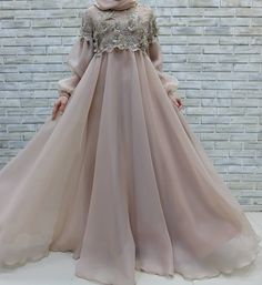 Images may contain: one or more people - Pregnancy Muslimah Wedding Dress, Muslim Wedding Dresses, Muslim Dress, Bridesmaid Dresses, Prom Dresses, Wedding Abaya, Wedding Outfits, Wedding Bridesmaids, Abaya Style