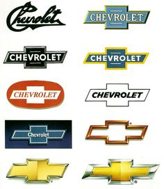 logo evolution CHEVROLET