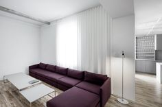 Natural light and pop of color! | Espace St-Dominique by Anne Sophie Goneau