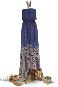 """Maxi Dress"" by chloe-813 ❤ liked on Polyvore"