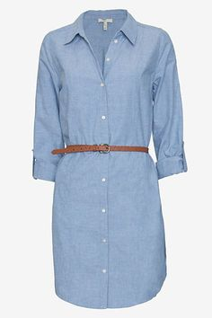 shirt dress in chambray I Love Fashion, Passion For Fashion, Spring Fashion, Womens Fashion, Summer Outfits, Cute Outfits, Summer Clothes, Chambray Dress, Collared Dress