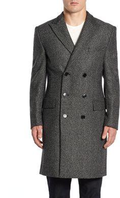 Doublebreasted Woolblend Coat - Lyst< VERSACE, $657