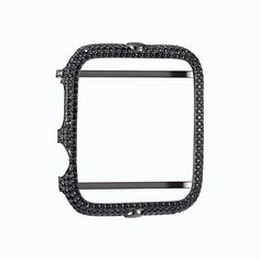 Black Custom Apple Watch Bezel 42 MM Series 1 Sterling Silver Cubic Zirconia Custom Fit New