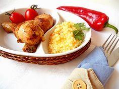 Copănele de pui cu cuş cuş ~ Bucate, vorbe şi arome I Foods, Chicken, Meat, Kai
