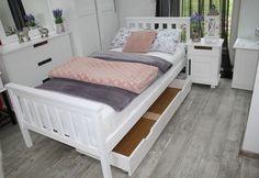 Jednolůžková postel SWAG, 90x200, bílá