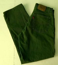 d9c9f796 Vtg Levis USA 554 Mens Jeans Over Dyed Green Actual 33 X 31 Tagged 33 x