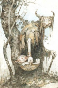 American Faerie Tale Artist Larry MacDougall | Troll Grandmother