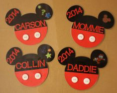 Mickey Mouse Magnets for Stateroom Door (Disney Cruise)