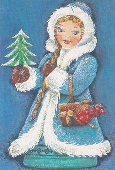"Vintage ""Happy New Year -- Snow Maiden"" Print no.179 - 1986"