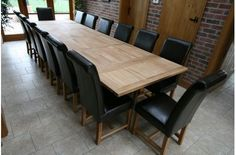 Oslo 2.8m Extending Solid Oak Refectory Dining Table