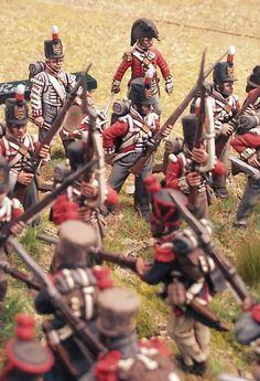 British and French clash, British Soldier, British Army, Marine Commandos, British Uniforms, 28mm Miniatures, Military Diorama, Napoleonic Wars, Miniture Things, Emperor