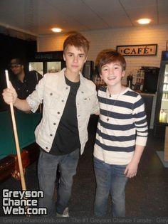 Greyson Chance and Justin Bieber