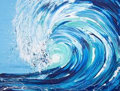 Buy Wave Series - First Touch Acrylic painting by Annette Spinks on Artfinder. Discover thousands of other original paintings, prints, sculptures and photography from independent artists. Ocean Wave Painting, Wave Art, Ocean Art, Acrylic Wave Painting, Ballerina Painting, Watercolor Wave, Kaws Painting, Paintings Famous, Art Paintings