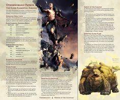 The Elder Elemental: Zaratan Dungeons And Dragons Classes, Dungeons And Dragons Characters, Dungeons And Dragons Homebrew, Dnd Characters, Warlock Class, D&d Online, Dnd Classes, Elemental Powers, Dnd 5e Homebrew