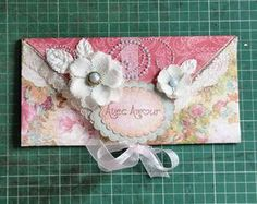 envelope card and its tutorial by Card Making Designs, How To Make An Envelope, Step Cards, Paper Envelopes, Happy Mail, Mail Art, Scrapbook Albums, Mini Albums, Projects To Try
