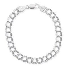 """Sterling Silver Double-Link Chain Bracelet, 7""""  http://electmejewellery.com/jewelry/bracelets/sterling-silver-doublelink-chain-bracelet-7-com/"""