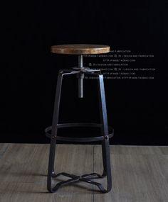Retro americana óxido imitación barra de hierro forjado taburetes de madera silla silla taburete negro pizarra para hacer el viejo metal de elevación ba en Sillas de Metal de Muebles en AliExpress.com | Alibaba Group