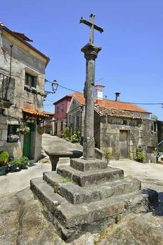 Village Combarro, Pontevedra in Spain - Hapva. Great Places, Beautiful Places, Amazing Places, Christian World, Spain And Portugal, Place Of Worship, Terra, The Good Place, Madrid