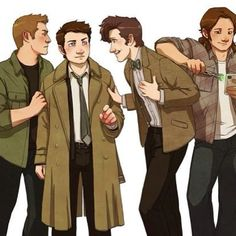 Doctor Who meets Supernatural (i love that sam has snatched the Doctors screwdriver)