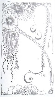 #tangle art, I used pencil only here...