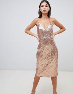 Order Club L sequin cami midi dress in gold online today at ASOS for fast delivery, multiple payment options and hassle-free returns (Ts&Cs apply). Get the latest trends with ASOS. Cami Midi Dress, Sequin Midi Dress, Glitter Dress, Wedding Dinner Dress, Sequin Bridesmaid Dresses, Asos, Going Out Dresses, Mi Long, Boutique Dresses