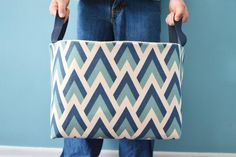 DIY Fabric Basket Tutorial | Keep your home organized with these beautiful DIY fabric baskets!