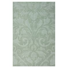 Define+an+area+in+your+living+room+or+master+suite+with+this+hand-tufted+wool+rug,+showcasing+an+eye-catching+damask+motif.++  Produc...