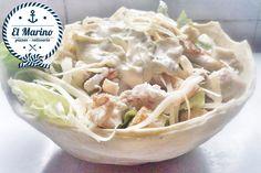 Ensalada Caesar (Hojas verdes, Pollo, Croutons y Parmesano)