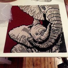 Elephants hama beads by lisandstroem - Pattern: https://de.pinterest.com/pin/374291419010675931/