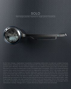 The SOLO is a unified laundry system for single folks. Besides being compact and wall mounted, the system cleans, irons, de-stains and refreshes clothes using modern Minimal Desk, Compact Laundry, Lever Door Handles, Clothes Dryer, Yanko Design, Cool Inventions, House Floor Plans, Washing Machine, Home