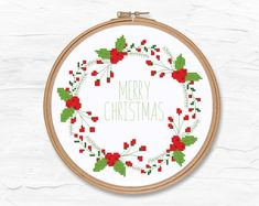 Cross Stitch Quotes, Cross Stitch Letters, Cross Stitch Borders, Simple Cross Stitch, Cross Stitch Charts, Counted Cross Stitch Patterns, Cross Stitch Christmas Ornaments, Christmas Bows, Christmas Embroidery