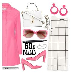 60s Mod by tropicalcraze on Polyvore featuring polyvore, fashion, style, MANGO, RED Valentino, Christian Dior, Dolce&Gabbana, BillyTheTree, Auden, Kate Spade, NYX, NARS Cosmetics, clothing and pinkcoats