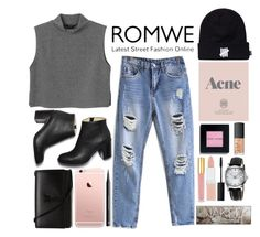 """""""Romwe#3"""" by brigette002 ❤ liked on Polyvore featuring Monki, Paul Andrew, Yves Saint Laurent, H&M, Burberry, NARS Cosmetics, Bobbi Brown Cosmetics, Isaac Mizrahi, Urban Decay and Rimmel"""