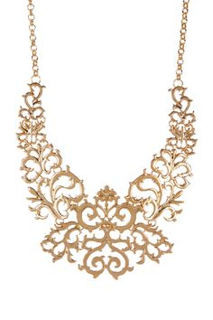 Golden Brocade Necklace on HauteLook  #streetstyle