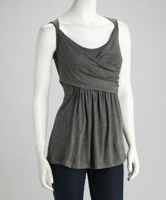 Another great find on #zulily! Charcoal Cross-Front Top #zulilyfinds