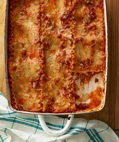 Lasagna|A combination of four cheesesricotta, provolone, mozzarella, and Parmesanensures this classic casserole is rich and delicious.