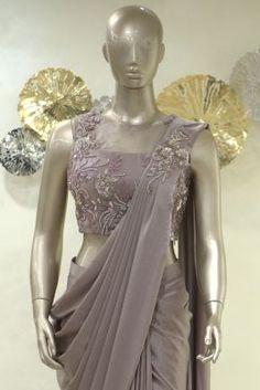Mauve Stone Embroidered Satin Saree-SR25397 Sari Design, Ethnic Design, Saree Designs Party Wear, Saree Blouse Designs, Zardozi Embroidery, Satin Saree, Stylish Sarees, Dress Indian Style, Blue Pearl