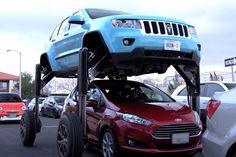 'Tá com pressa? Passa por cima!': Hum Rider é o carro capaz de fazer isso