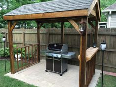 If you are looking for Outdoor Grill Station, You come to the right place. Here are the Outdoor Grill Station. This post about Outdoor Grill Station was posted und. Diy Pergola, Grill Gazebo, Patio Grill, Patio Gazebo, Backyard Patio Designs, Backyard Projects, Grill Hut, Pergola Kits, Wood Grill