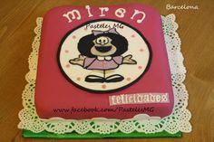 Tarta de cumpleaños Personalizada: Temática Mafalda.