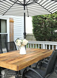 DIY Wood Patio Table