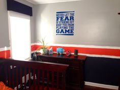 detroit tigers baseball bedroom boy 39 s room with wall decal never let